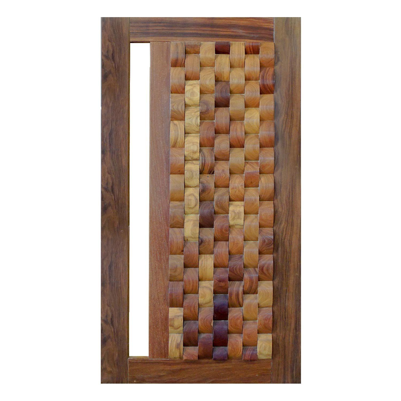Porta Pivotante de Madeira Modelo pp - Oslo Cumaru
