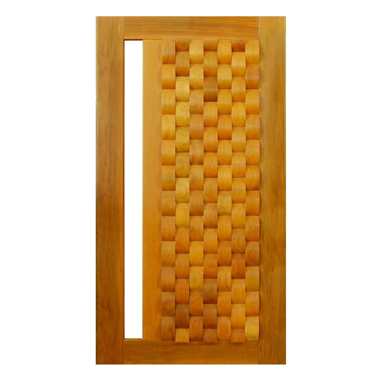 Porta Pivotante de Madeira Modelo pp - Oslo Garapeira