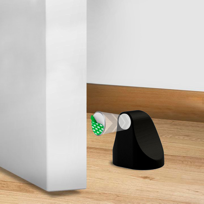 Prendedor de Portas Magnético ConfortDoor Preto Fosco