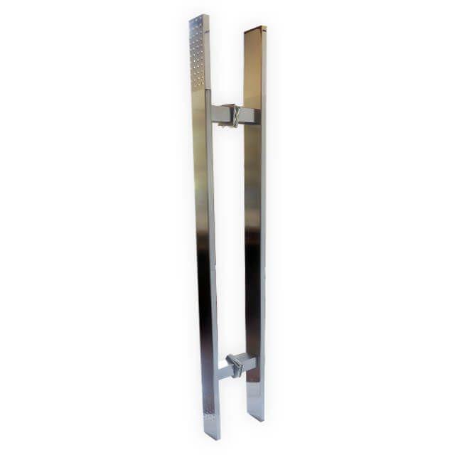 Puxador Vesfer 3068 Inox Escovado Com Alça Dupla 80 cm