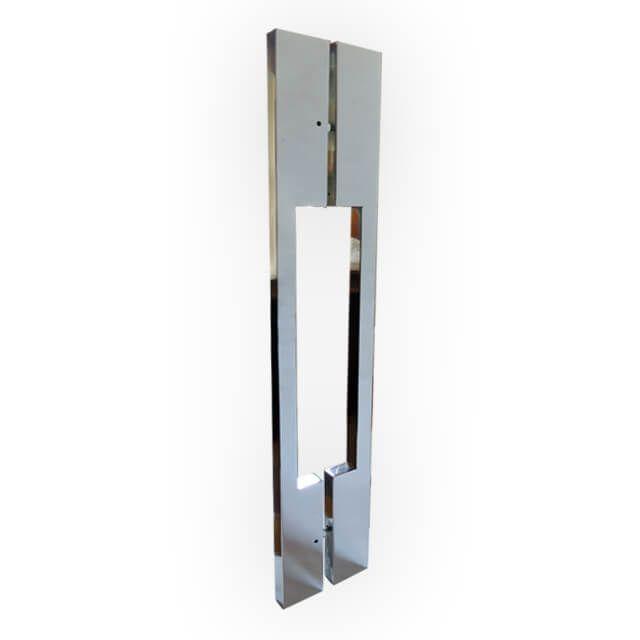 Puxador Vesfer 3064 Alumínio Polido Com Alça Dupla 80 cm