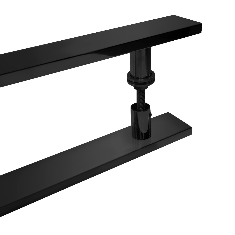 Puxador para porta de madeira e vidro modelo 7003 38x100 preto