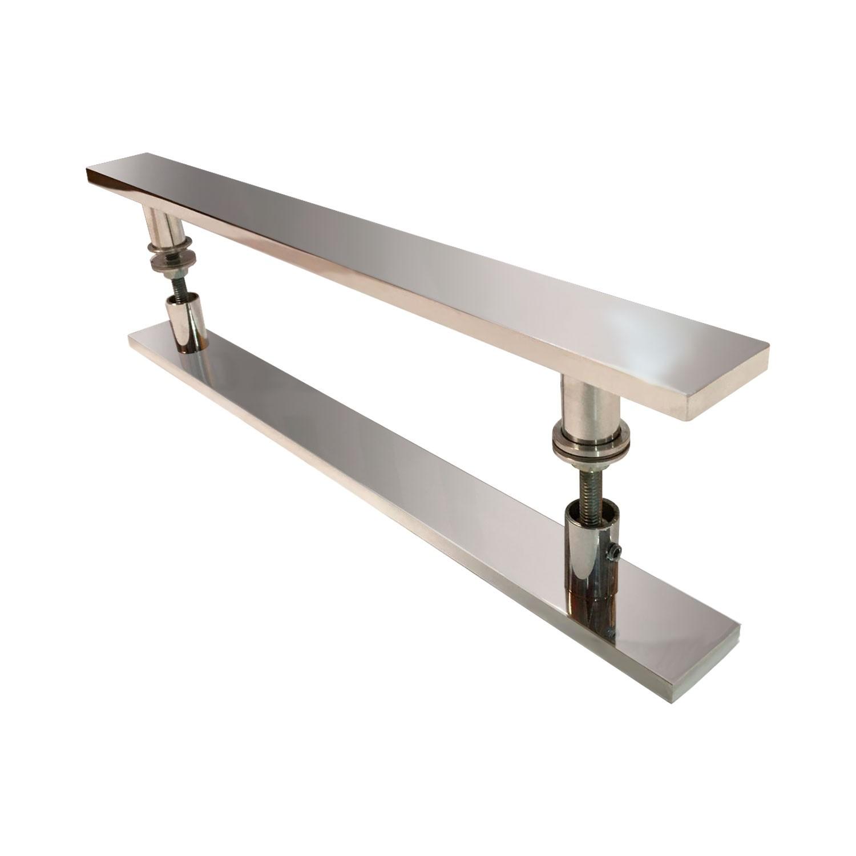 Puxador para porta de madeira e vidro modelo 7003 51x120 alumínio polido