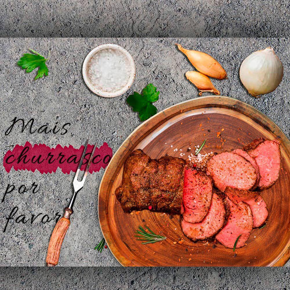 Tábua de Carne para Churrasco Rústica Bolacha  42x42x6cm