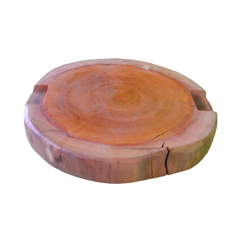 Tábua de Carne para Churrasco Rústica Bolacha  44x44x6cm
