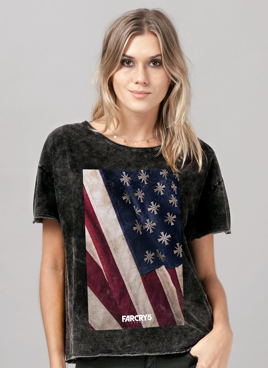 Blusa Feminina Far Cry 5 Cult Flag
