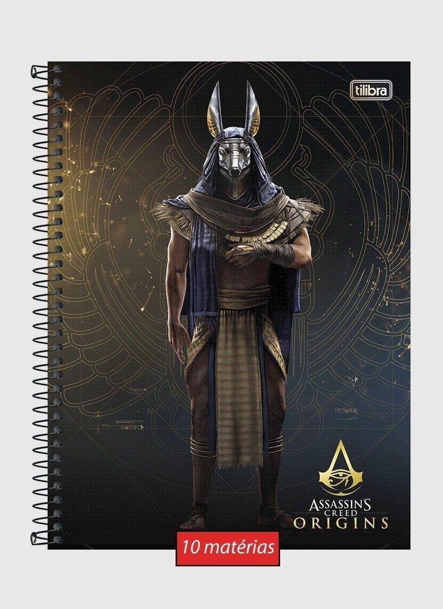 Caderno Assassin's Creed Annubis 10 Matérias