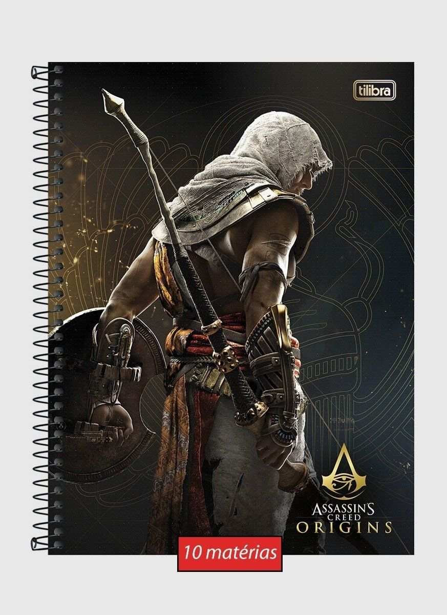 Caderno Assassin's Creed Bayek 10 Matérias