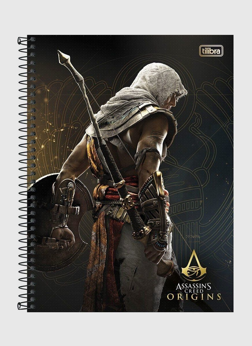 Caderno Assassin's Creed Bayek 1 Matéria