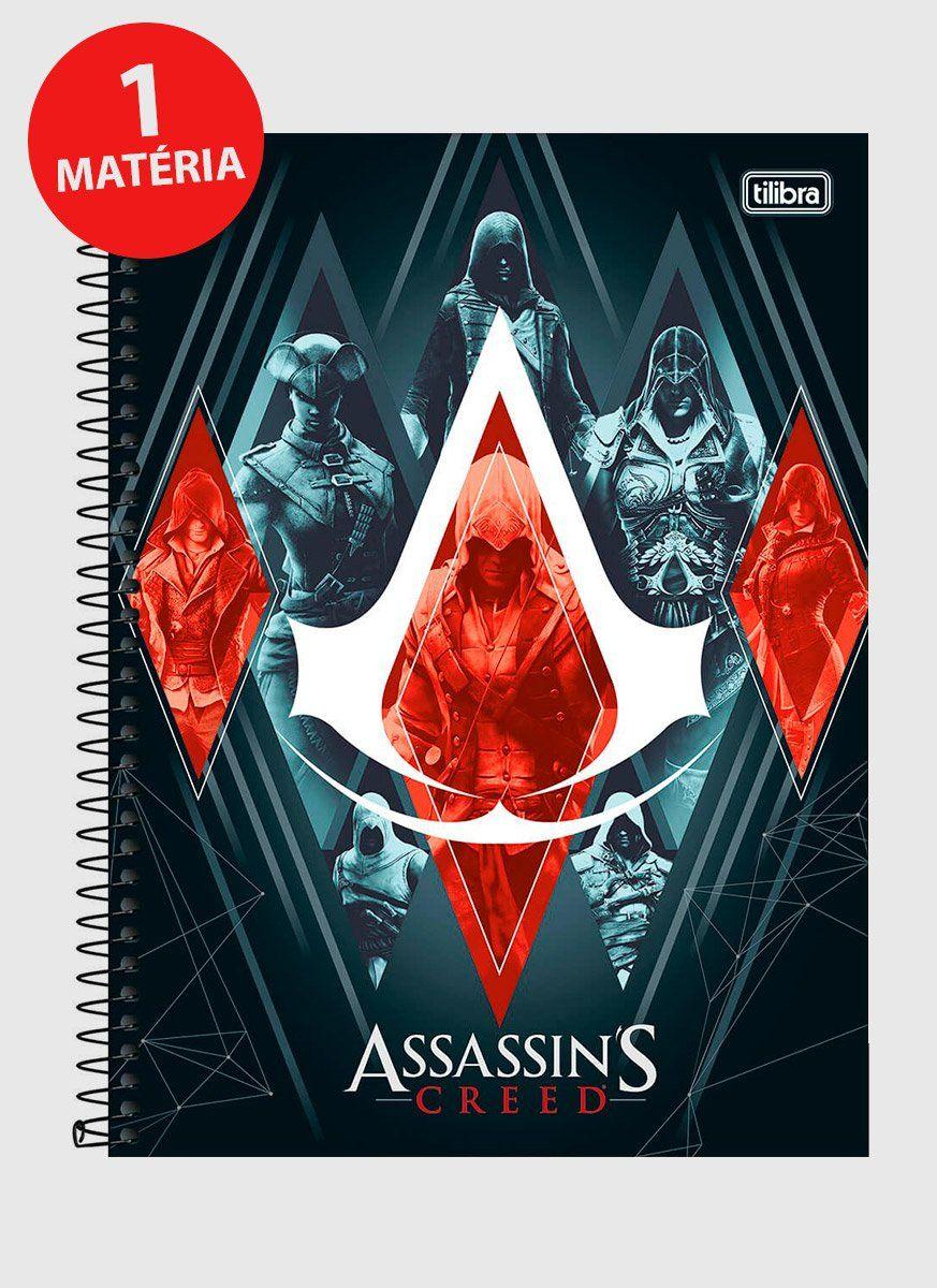 Caderno Assassin's Creed Irmandade 1 Matéria
