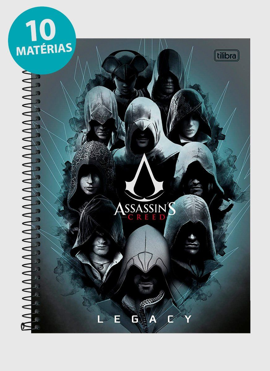 Caderno Assassin's Creed Legacy 10 Matérias