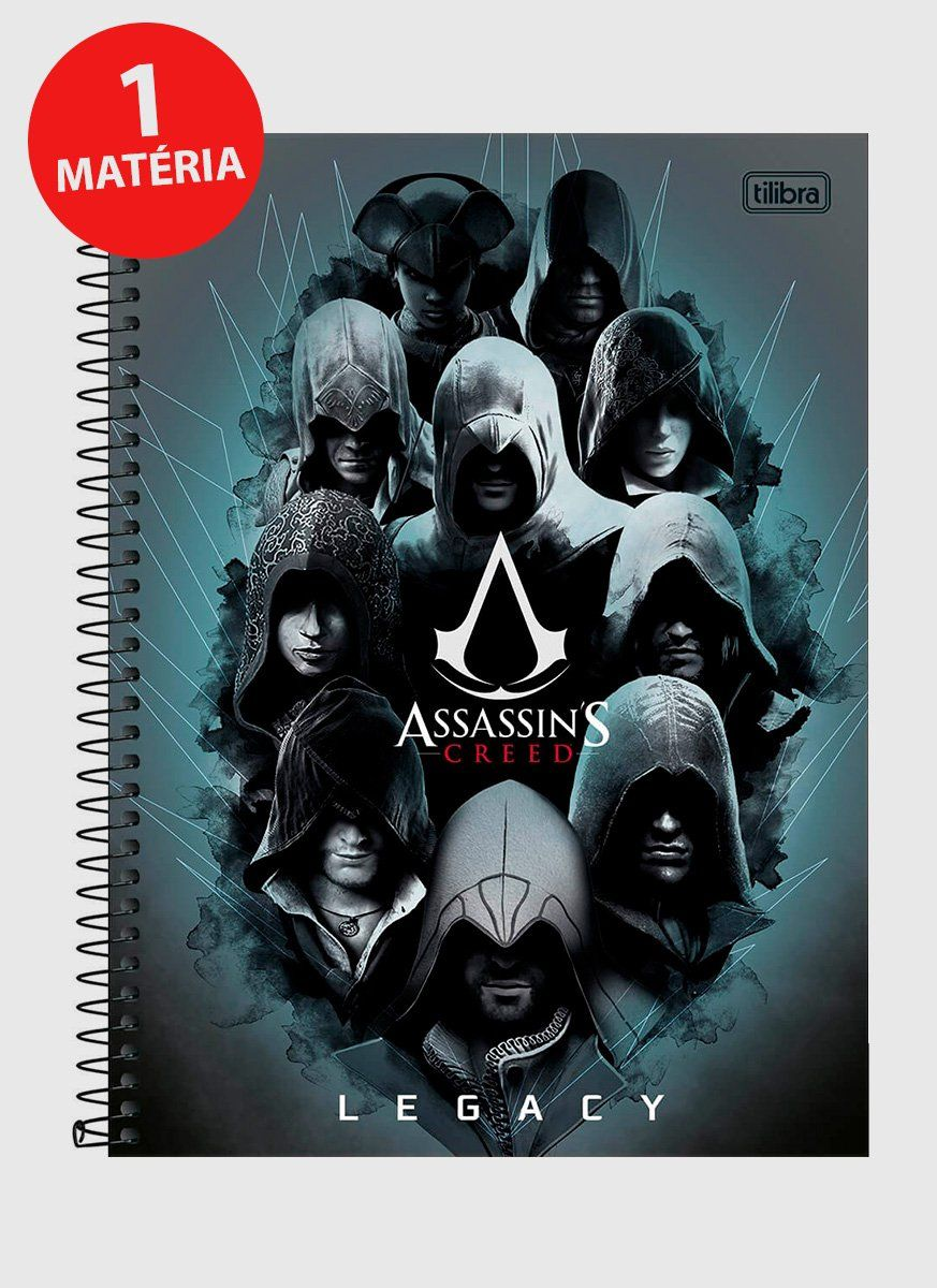 Caderno Assassin's Creed Legacy 1 Matéria