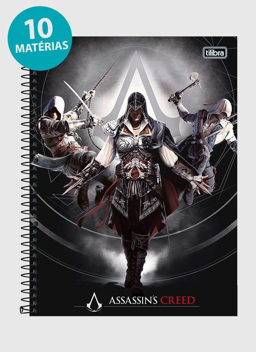 Caderno Assassin's Creed Ordem dos Assassinos 10 Matérias