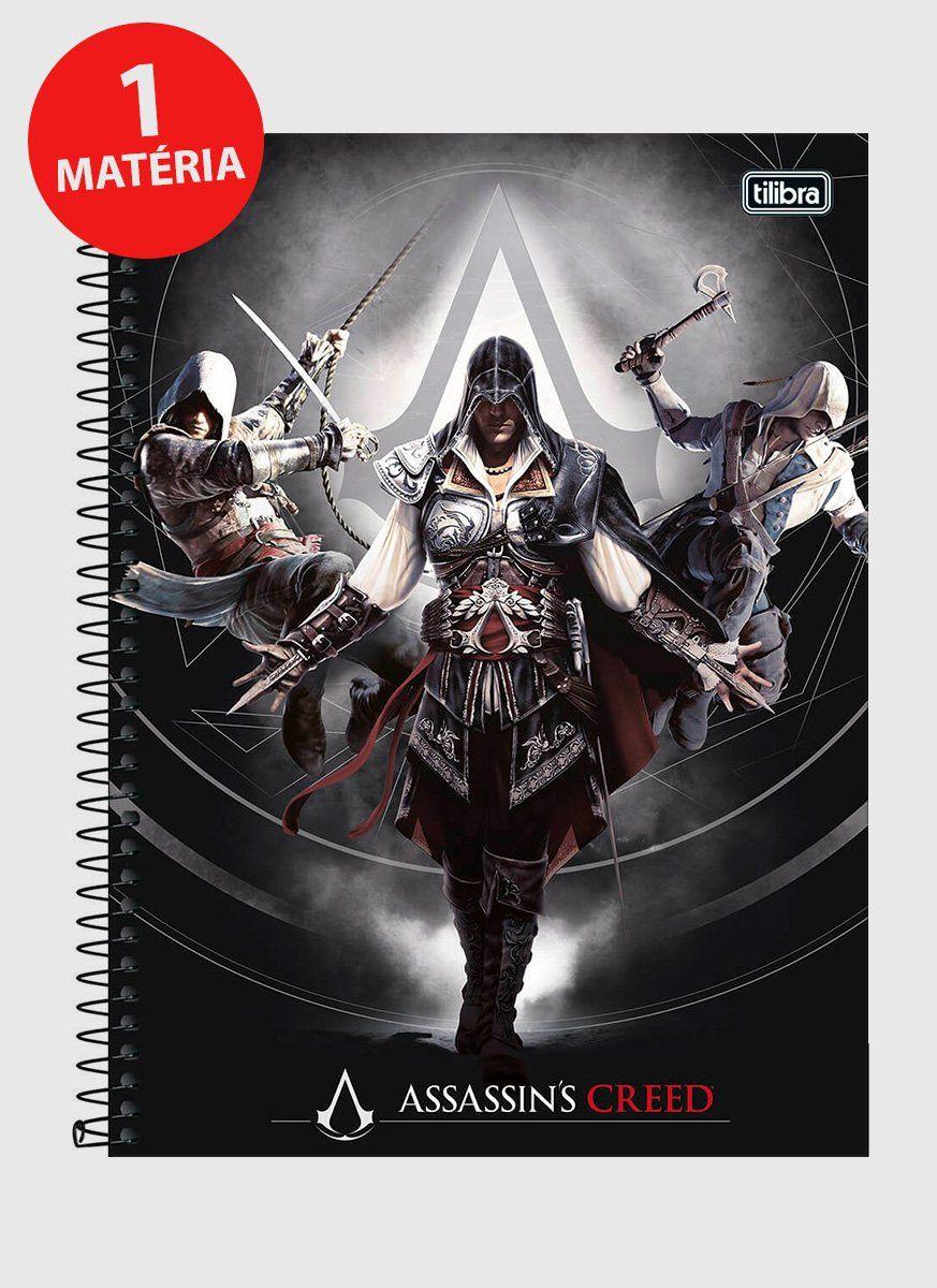 Caderno Assassin's Creed Ordem dos Assassinos 1 Matéria