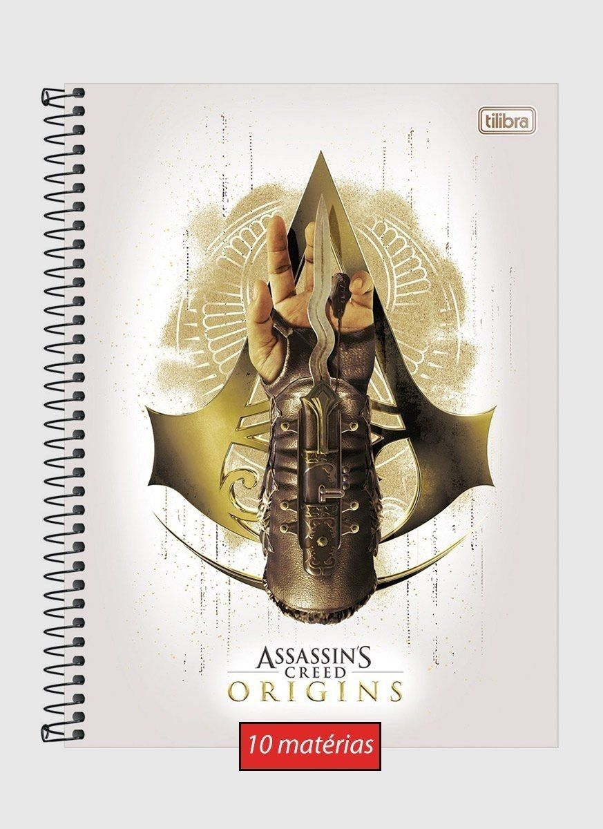 Caderno Assassin's Creed Origins 10 Matérias