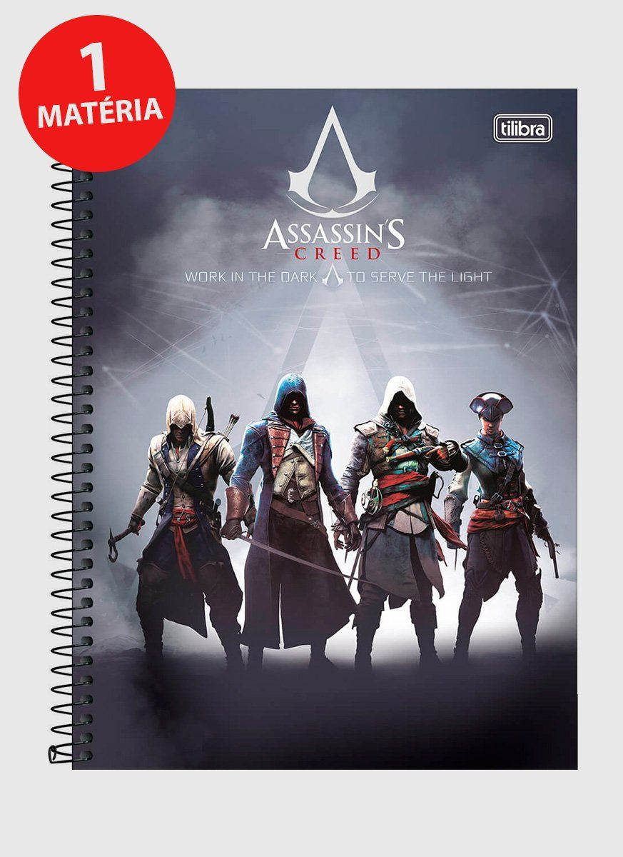 Caderno Assassin's Creed Work in the Dark 1 Matéria