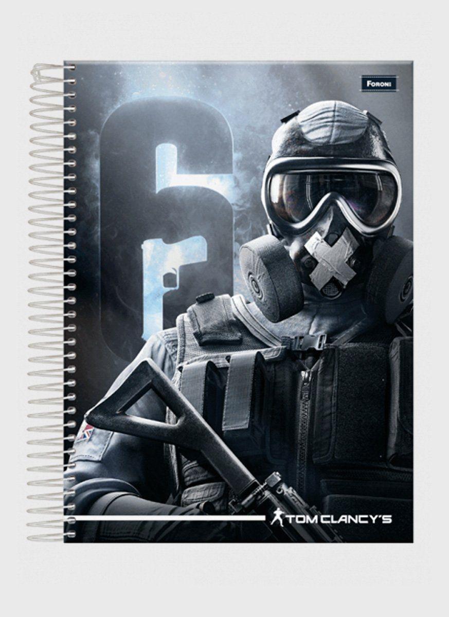 Caderno Rainbow 6 Soldier 1 Matéria