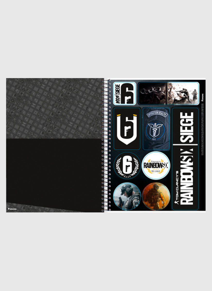 Caderno Rainbow Six Operador 1 Matéria