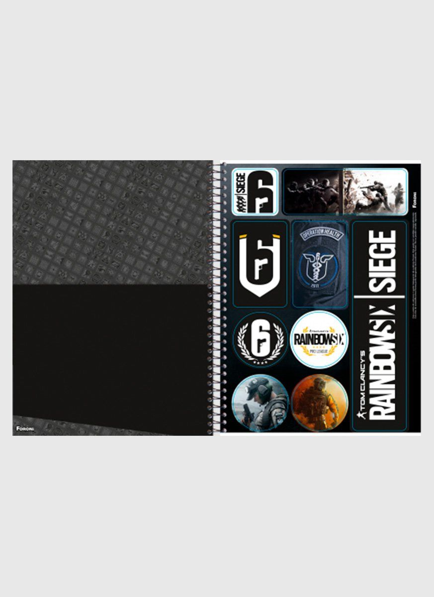 Caderno Rainbow Six Characters 10 Matérias