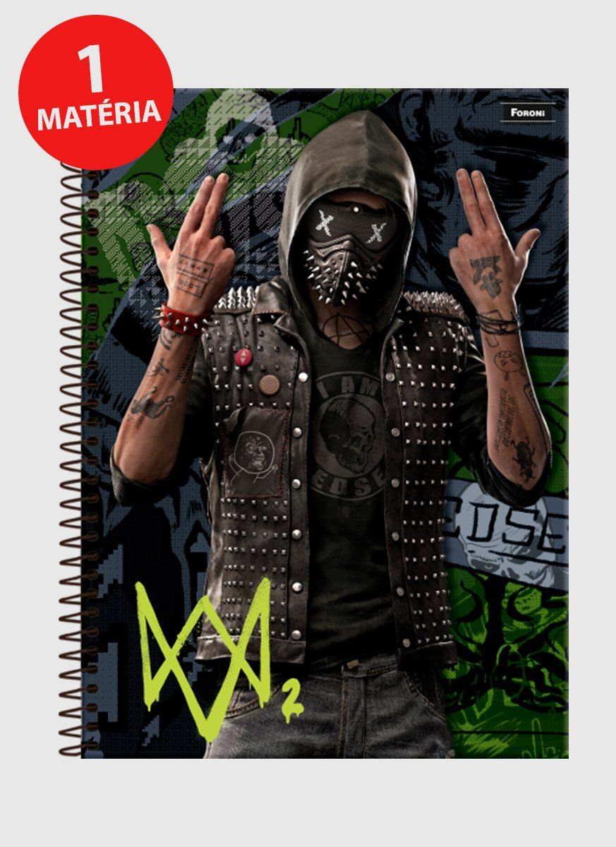 Caderno Watch Dogs 2 Wrench 1 Matéria