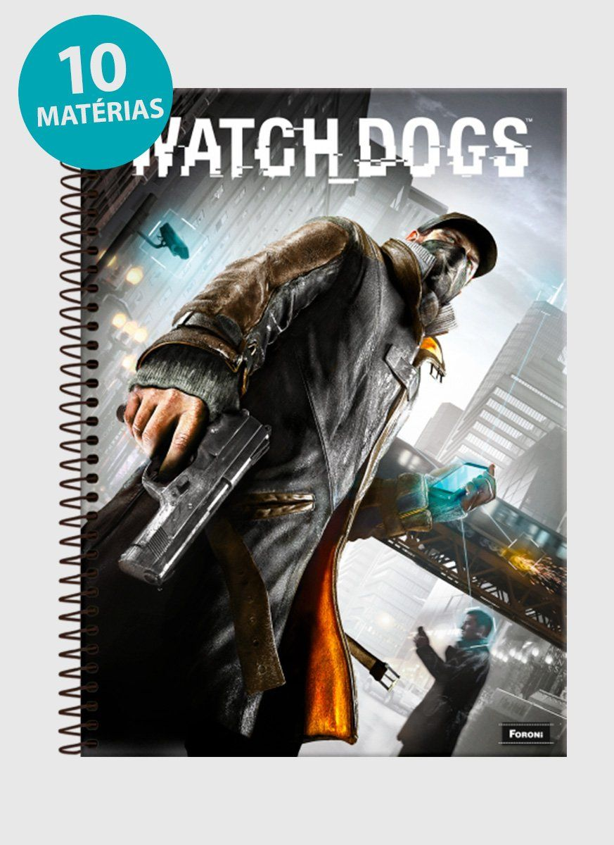 Caderno Watch Dogs Capa 10 Matérias
