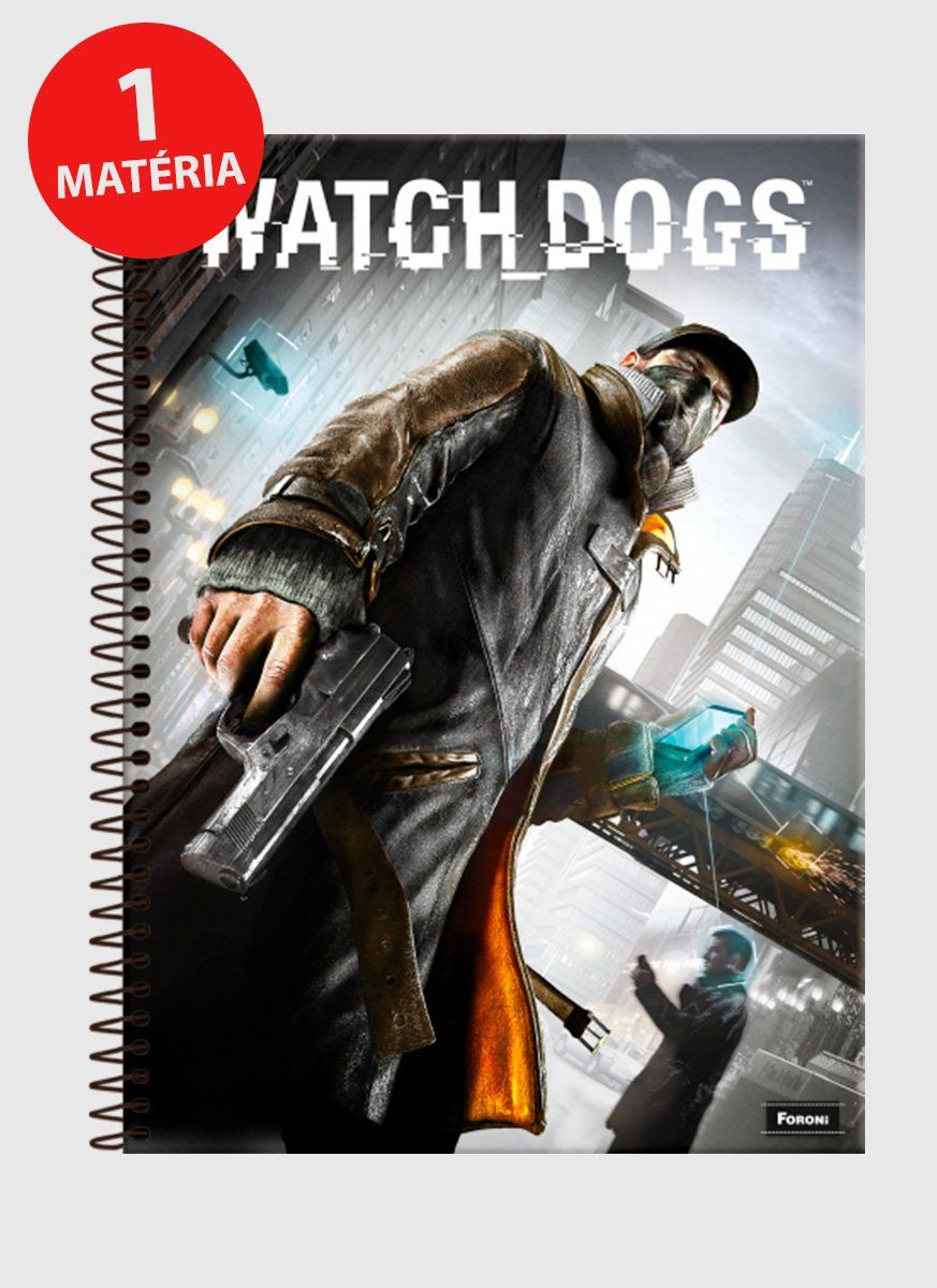 Caderno Watch Dogs Capa 1 Matéria