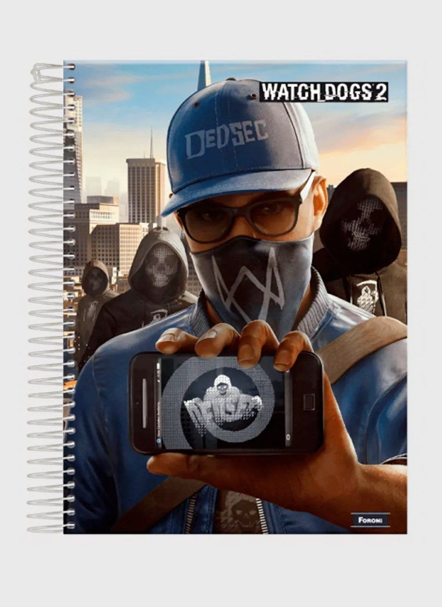 Caderno Watch Dogs Hacker 1 Matéria