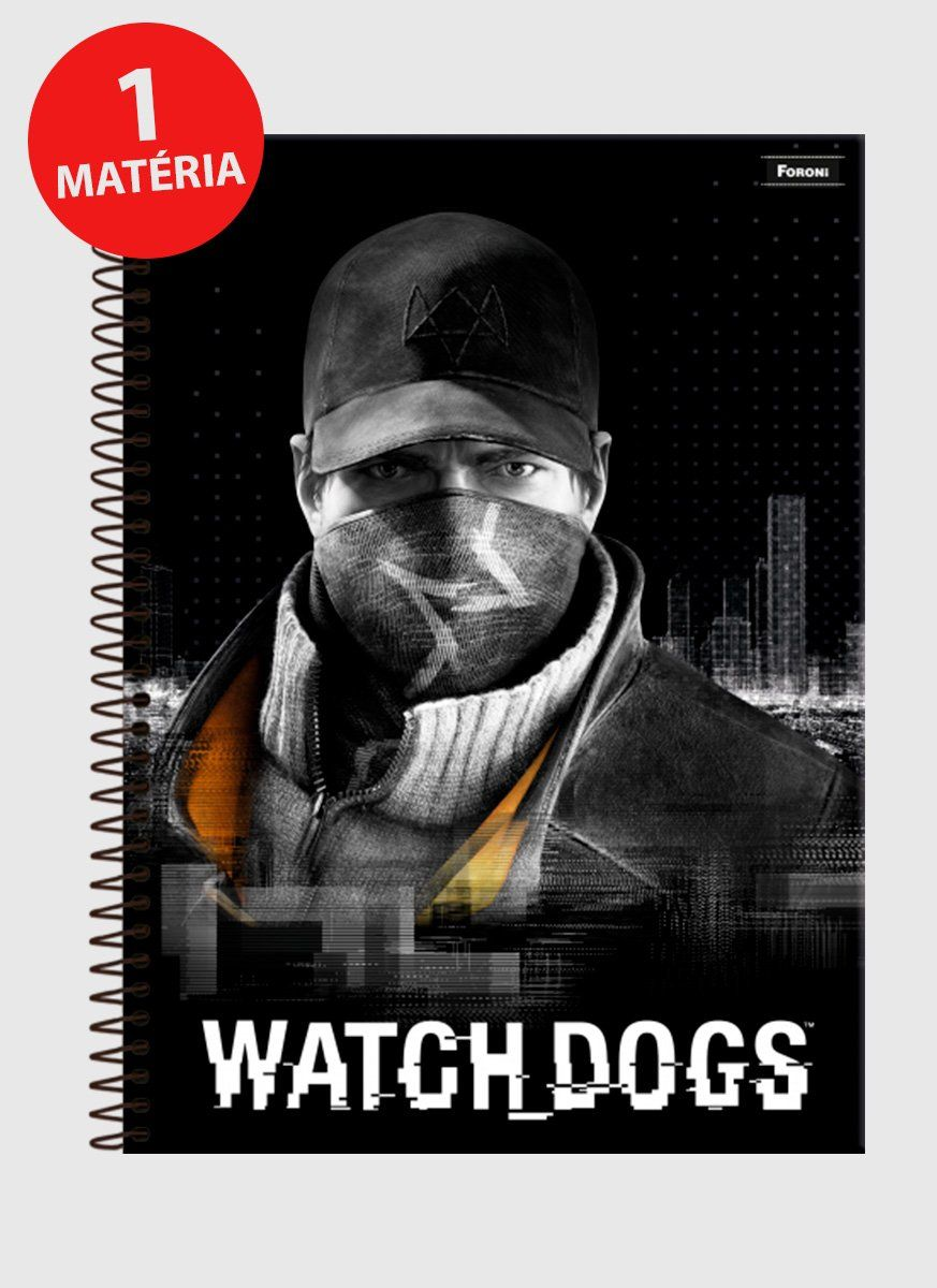 Caderno Watch Dogs Marcus 1 Matéria