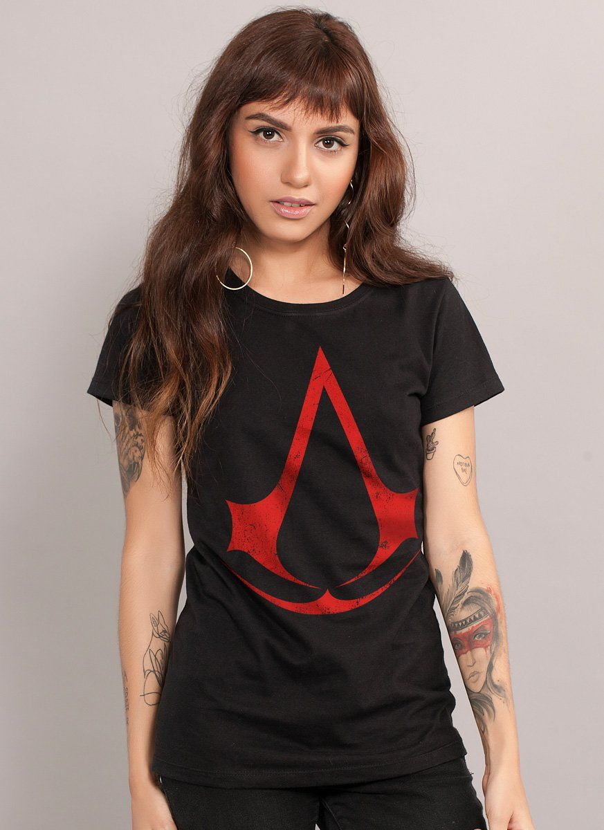 Camiseta Feminina Assassin's Creed Logo