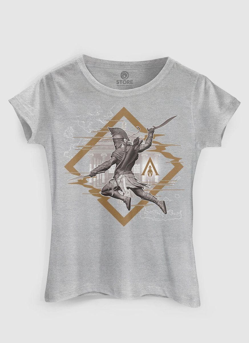 Camiseta Feminina Assassin's Creed Odyssey Glitch