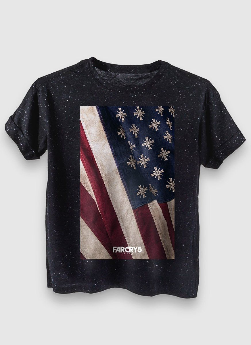 Camiseta Feminina Far Cry 5 Cult Flag