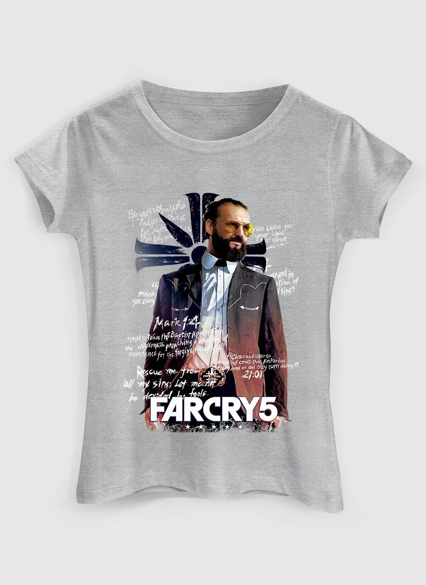 Camiseta Feminina Far Cry 5 Father
