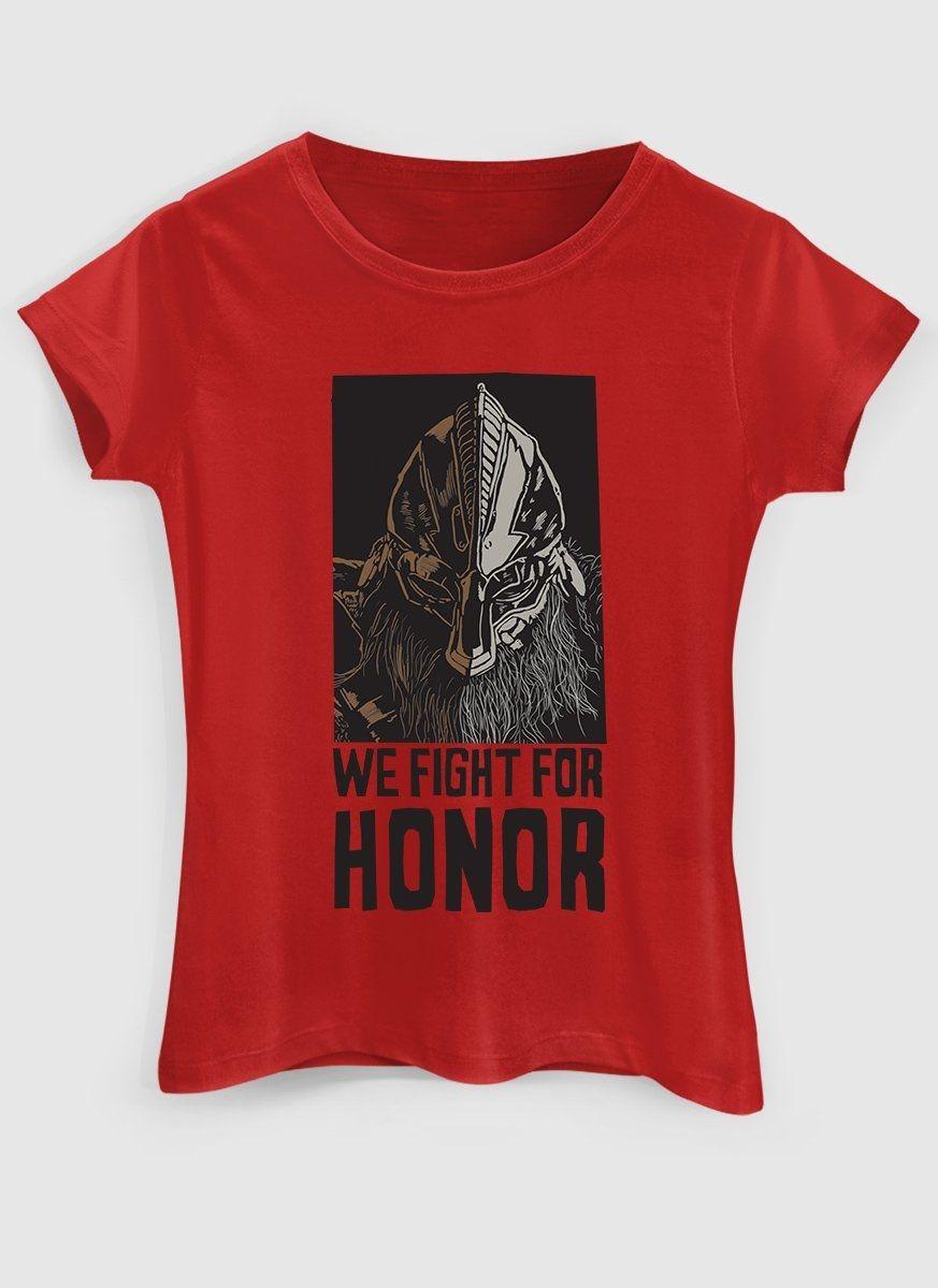 Camiseta Feminina For Honor Senhor da Guerra