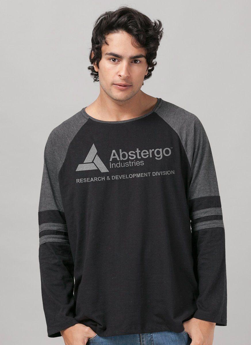 Camiseta Manga Longa Masculina Assassin's Creed Crest Abstergo