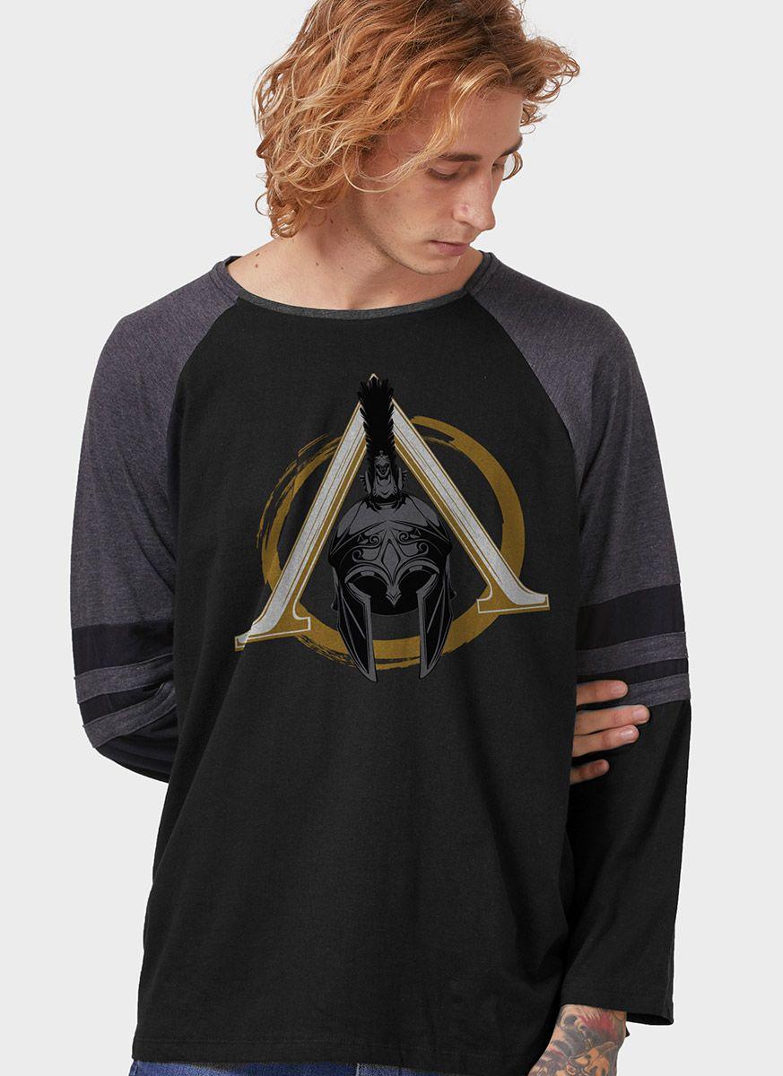 Camiseta Manga Longa Masculina Assassin's Creed Odyssey Cap