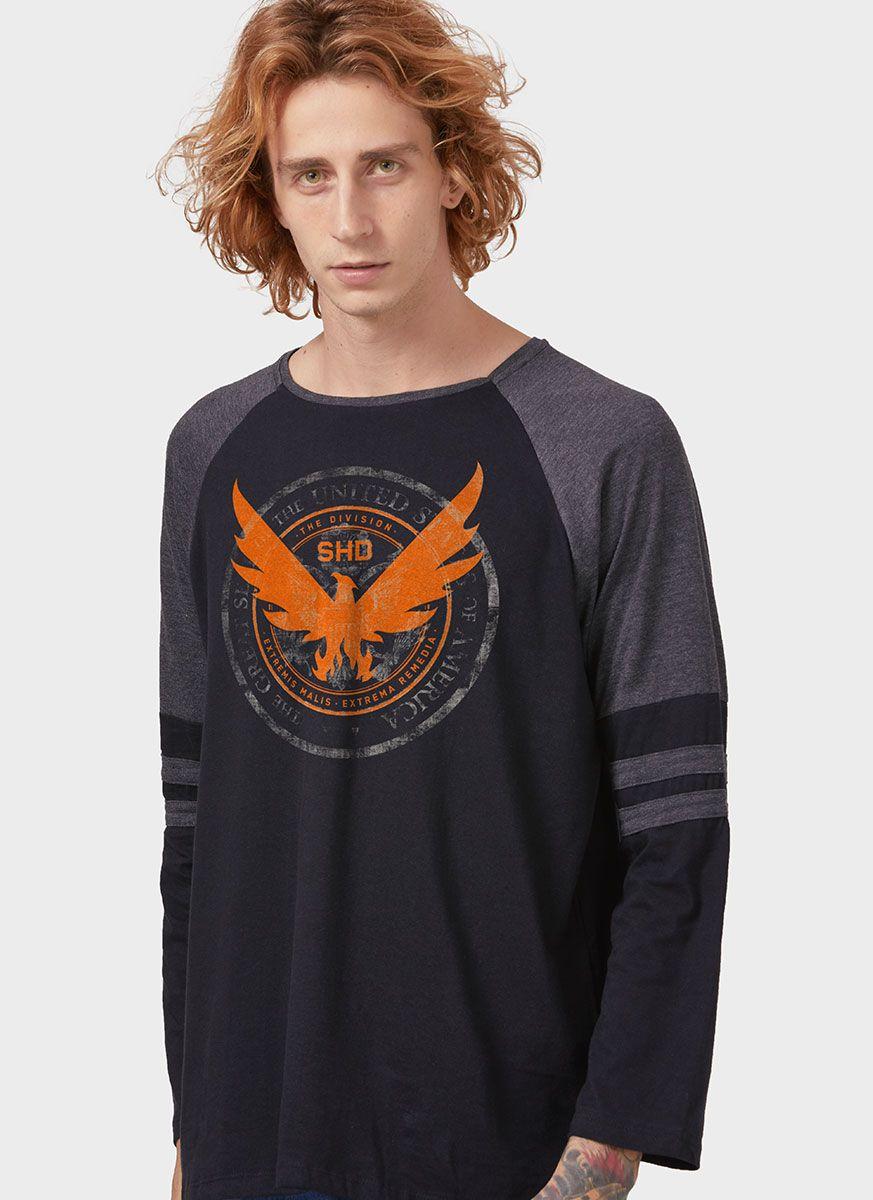 Camiseta Manga Longa Masculina The Division 2 Phoenix Primary