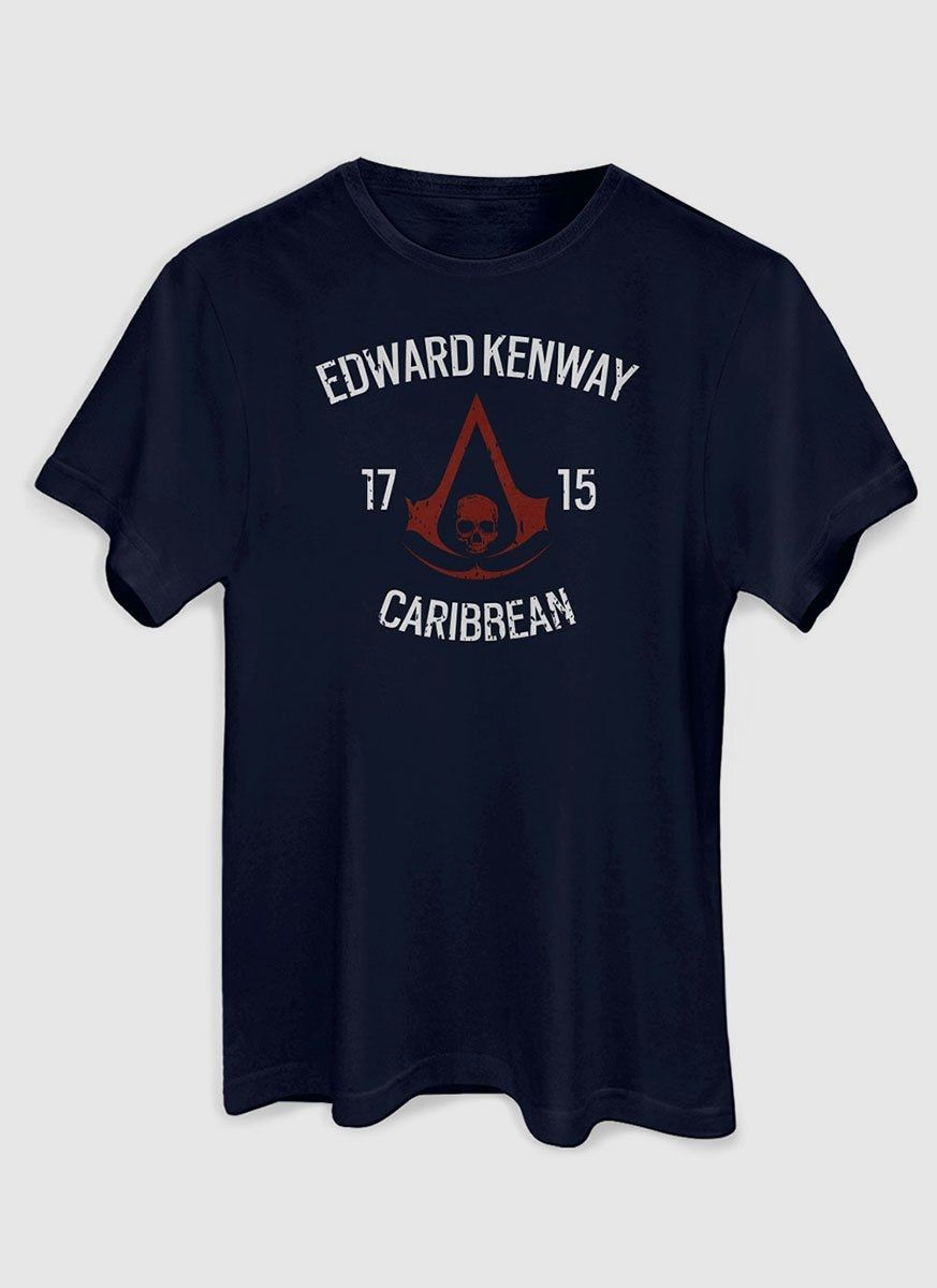 Camiseta Masculina Assassin's Creed Crest Edward
