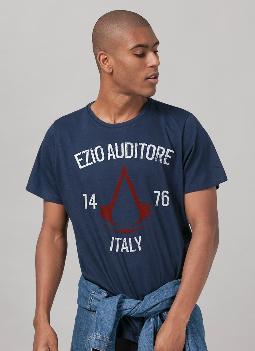 Camiseta Masculina Assassin's Creed Crest Ezio