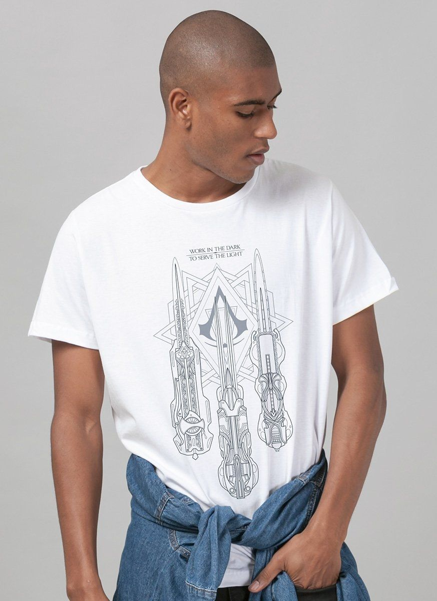 Camiseta Masculina Assassin's Creed O Filme Hidden Blades
