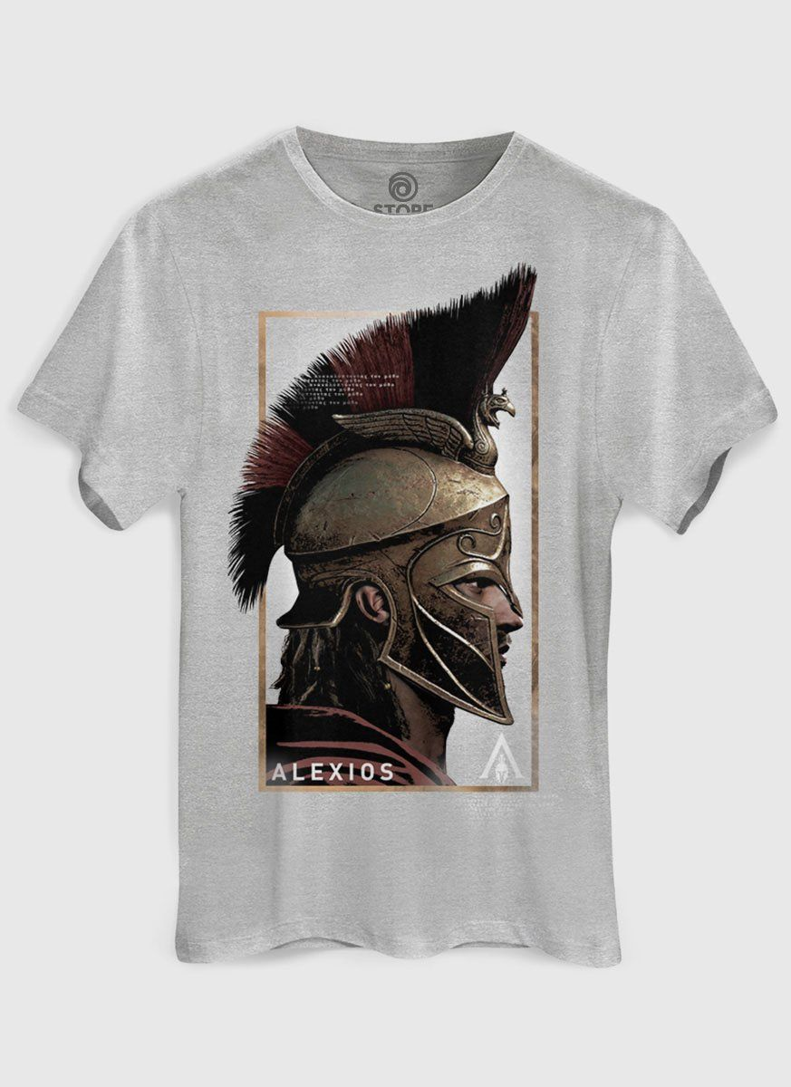 Camiseta Masculina Assassin's Creed Odyssey Alexios Face