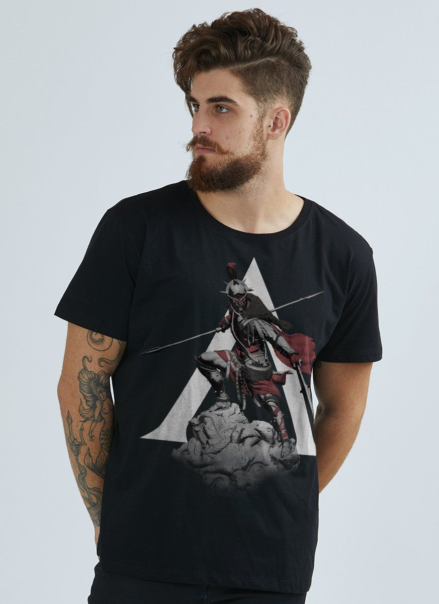 Camiseta Masculina Assassin's Creed Odyssey Statue