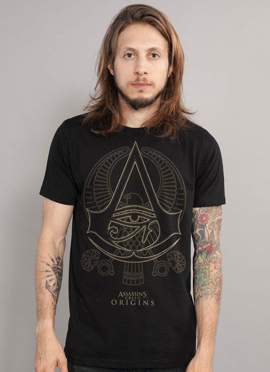 Camiseta Masculina Assassin's Creed Origins Crest