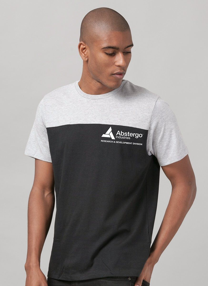 Camiseta Masculina Bicolor Assassin's Creed Crest Abstergo