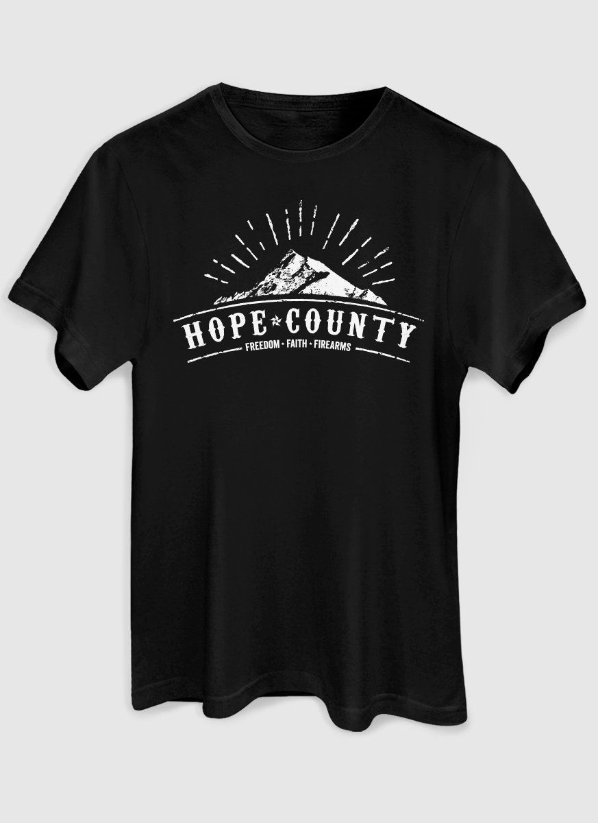 Camiseta Masculina Far Cry 5 Hope County Logo