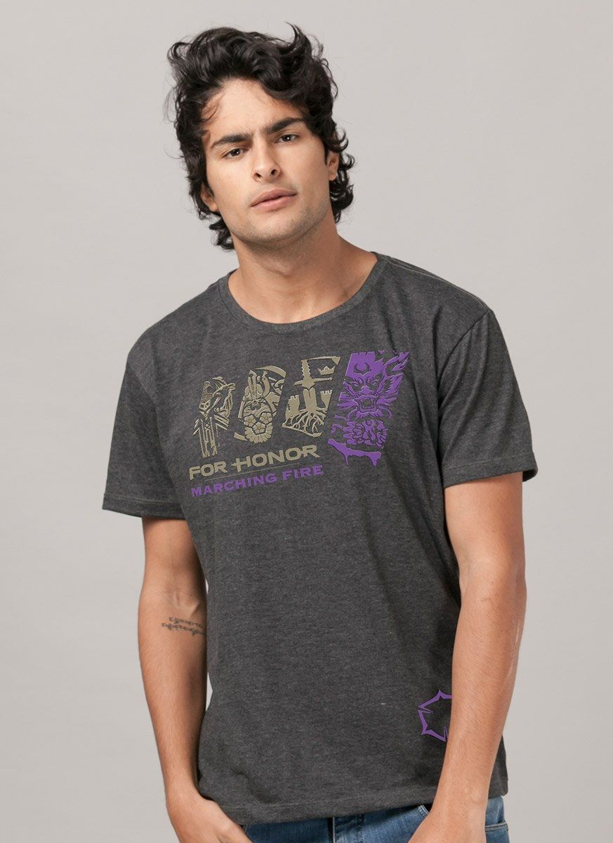 Camiseta Masculina For Honor Marching Fire