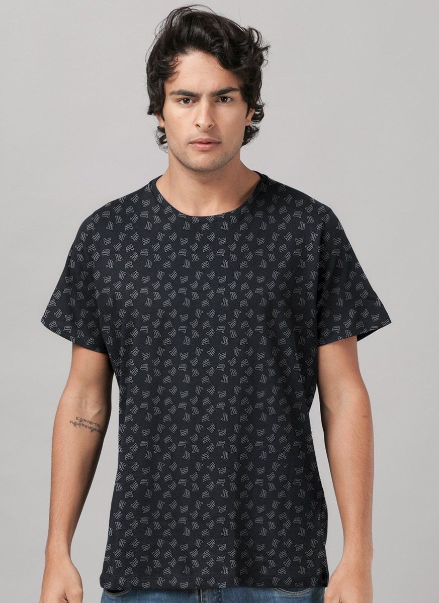 Camiseta Masculina Just Dance Pattern