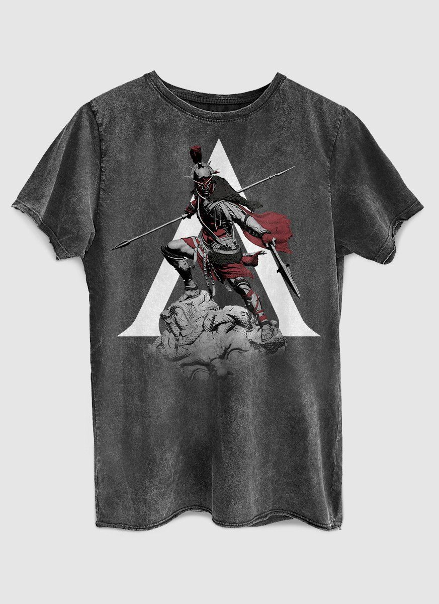 Camiseta Masculina Marmorizada Assassin's Creed Statue