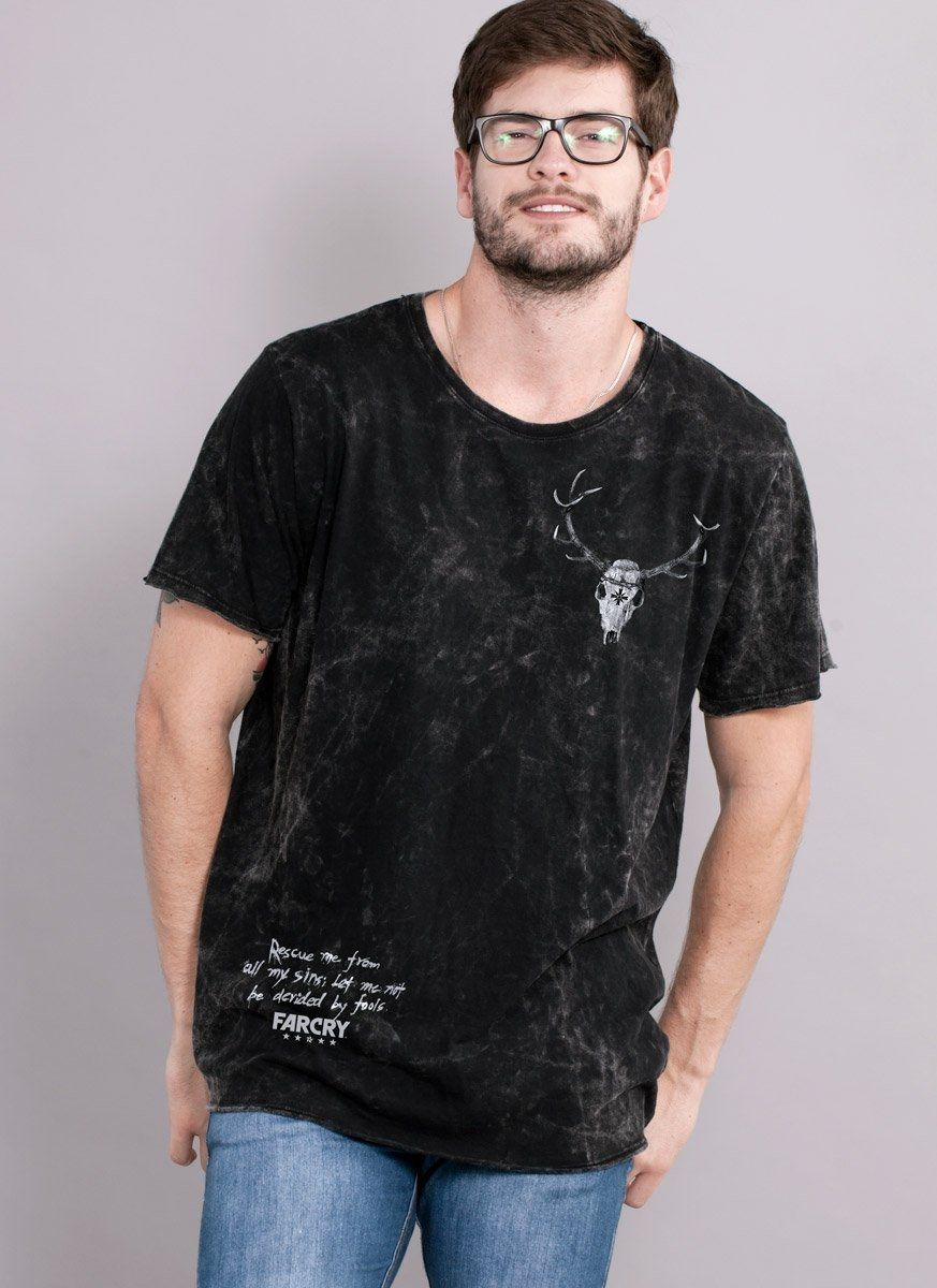 Camiseta Masculina Marmorizada Far Cry 5 Arch