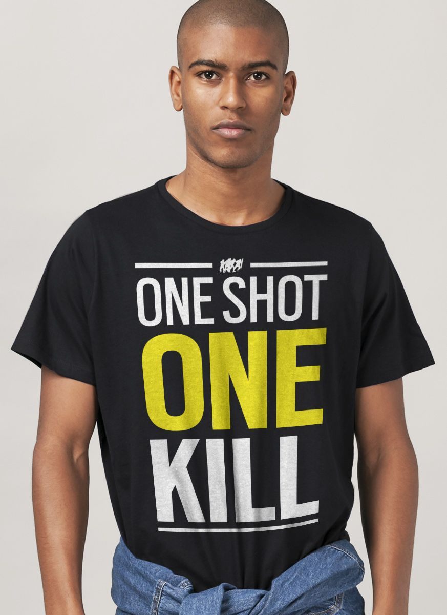 Camiseta Masculina Rainbow 6 One Shot One Kill