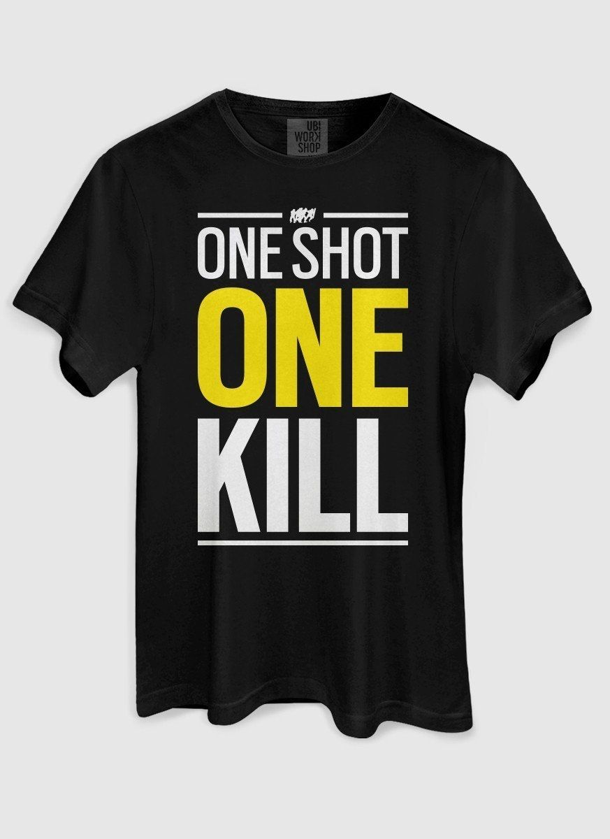 Camiseta Masculina Rainbow 6 One Shot One Kill